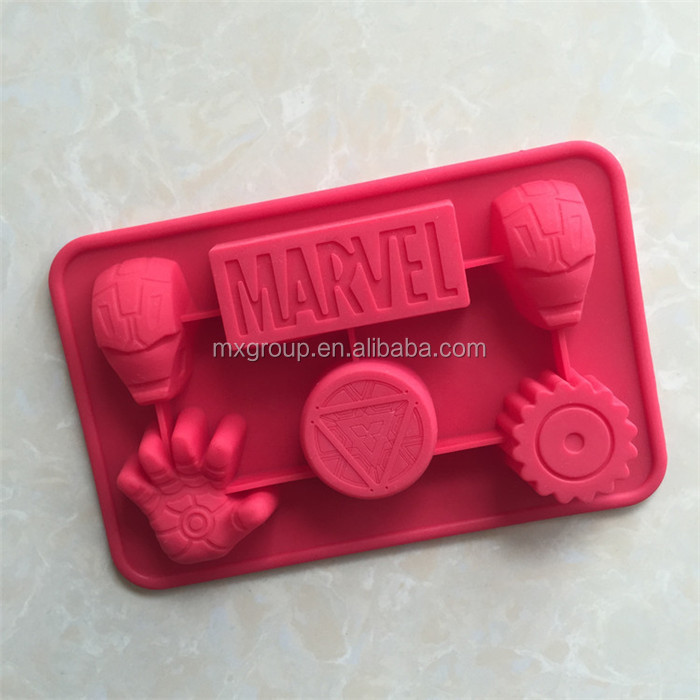New starting silicone cake mould jelly mousse mould iron man aromatherapy handmade soap chocolate mould