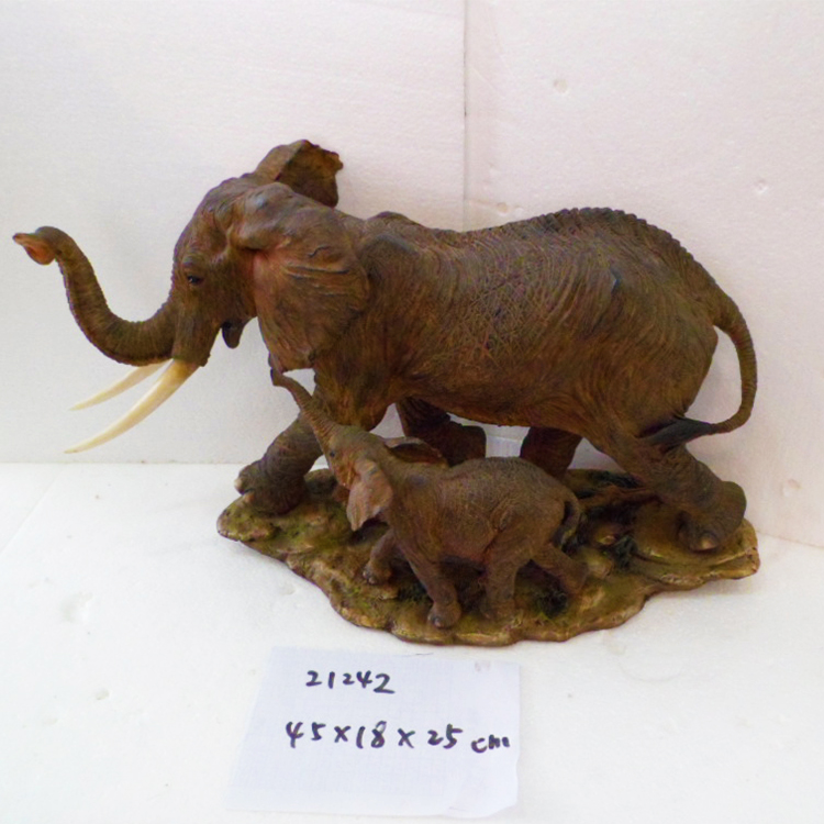 Home Decoration Elephant Shape Resin Sculpture