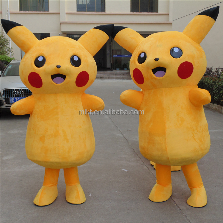 Factory direct sale customized cartoon character pikachu mascot costume