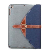 Cheap Price Rotatable Leather Cover for iPad Air 2 Tablet Case with 3 Gears Holder