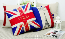 National flag high quality plain canvas throw pillow creative pillow
