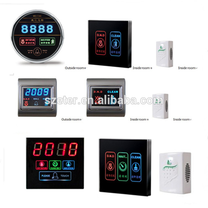 "Print logo Free Wireless Touch Hotel door bell with ""please do not disturb"" led light"