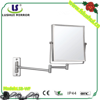 Hot selling simple square double sides cheap decorative mirror