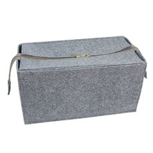 Slight carrying eco-friendly heat resistant felt cosmetic bag