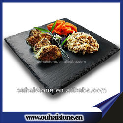 Slate products factory looking for distributor natural slate stone black plates for restaurant