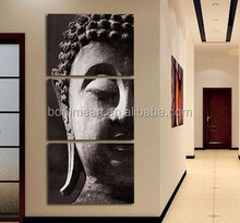 Free Shipping High Quality Hand-painted Group Oil Painting 3 Panel Wall Art Religion Buddha Oil Painting On Canvas