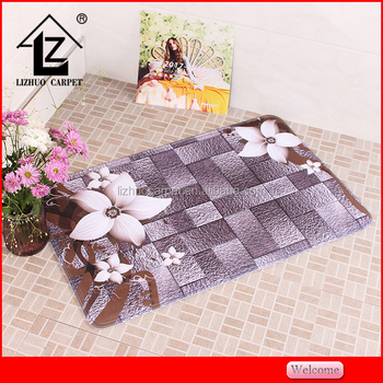 Bathroom using 3D printing flannel fabric large bath rug