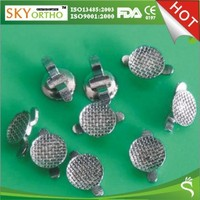 Bondable lingual buttons, dental orthodontic attachment