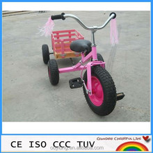 chinese toy manufacturers pink kid toy with wooden trailer