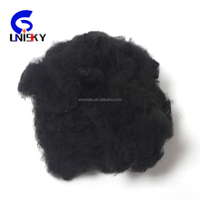 100% virgin polyester staple black fiber for spinning with competitive Price
