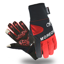 Heated 40g 3M Thinsulate Lining Wind-proof Ski Gloves Winter Wind-proof Thermal Cycling Gloves With Touch Screen