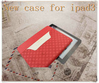 2013 Fashionable colorful soft pu case for Ipad3/new ipad with display stand!