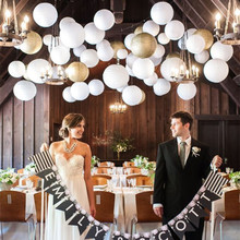 Hanging White Round Chinese Paper Lantern for Wedding Party Decoration