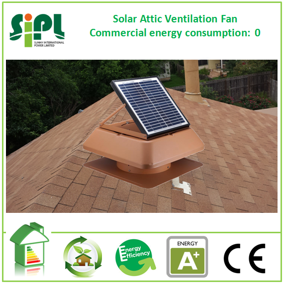 Solar ventilation system air cooling air suction fan 14 inch 18v dc brushless motor home appliance air duct fan
