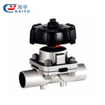 "Food Grade 3 port Triclamp 2"" DN50 Diaphragm Valve Multiport Valve"