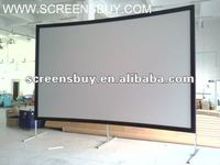 "200"" aluminum fast fold screen with rear and front screen fabric"