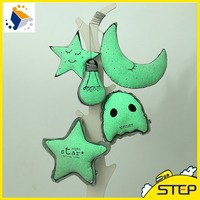 Night Light Moon,Star,Bulb Shape Plush Toys Creative Toys for Kids Birthday ST160305-10