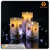 New product paraffin material flameless LED swing candles with dry flowers