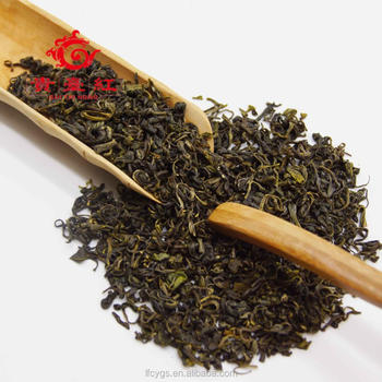 Famous natural high mountain green tea leaves low price tea foundation