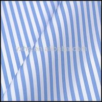 Yarn-dyed 100% Cotton Woven White Blue Stripe Fabric