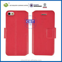 C&T High quality PU leather case for iphone 5