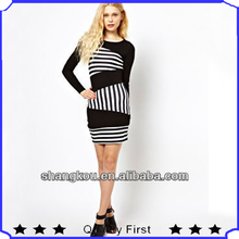 ODM& OEM manufacture excellent design women mini dress women stripe dress party dress shkz20