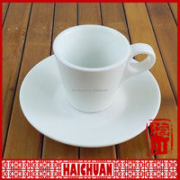 HCC ceramic cheap tea cup and saucer, personalized tea cup saucer set