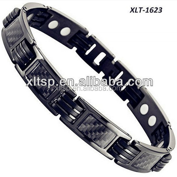 2016 hottest silicone rubber ball wristband bracelet blood pressure magnetic bracelet