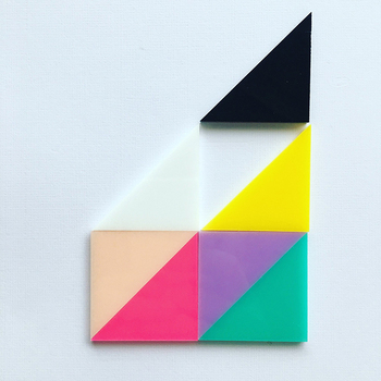 Custom Colored Small Triangular Acrylic Sheet Lucite Panel - Buy ...