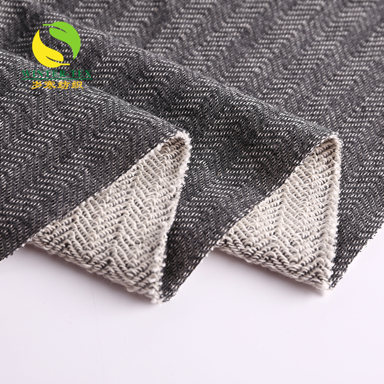 Free sample chinese polyester cotton knit jacquard cotton fabric for woman dresses