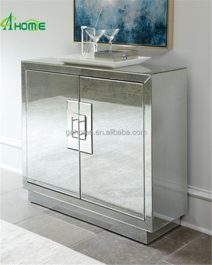 fashion hobby lobby living room mirrored cabinet with 2 door