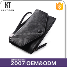 Top Selling Fashion Vintage Man Long Card Clutch Bags New Model Casual Genuine Top Cow Leather Wallets