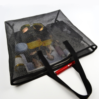 pa6 mesh ROHS passed laundry bag with handle