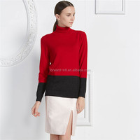 cashmere wool blended knitted long ladies pullover