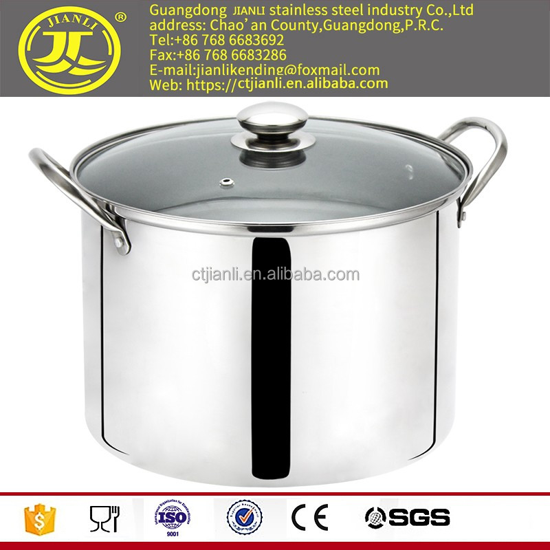 Wholesale Cooking steam pot Kitchenware as stainless steel steamer saup pan stainless steel pot set