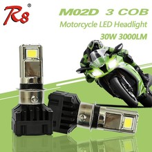Universal Popular RTD M02D 3Cob 30W 3000LM H4 BA20D Motorcycle LED Headlight DC 9-36V