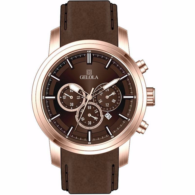 2017 Vogue chronograph steel mens watch