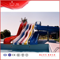 commercial quality fiberglass open spiral water slide for summer pool play