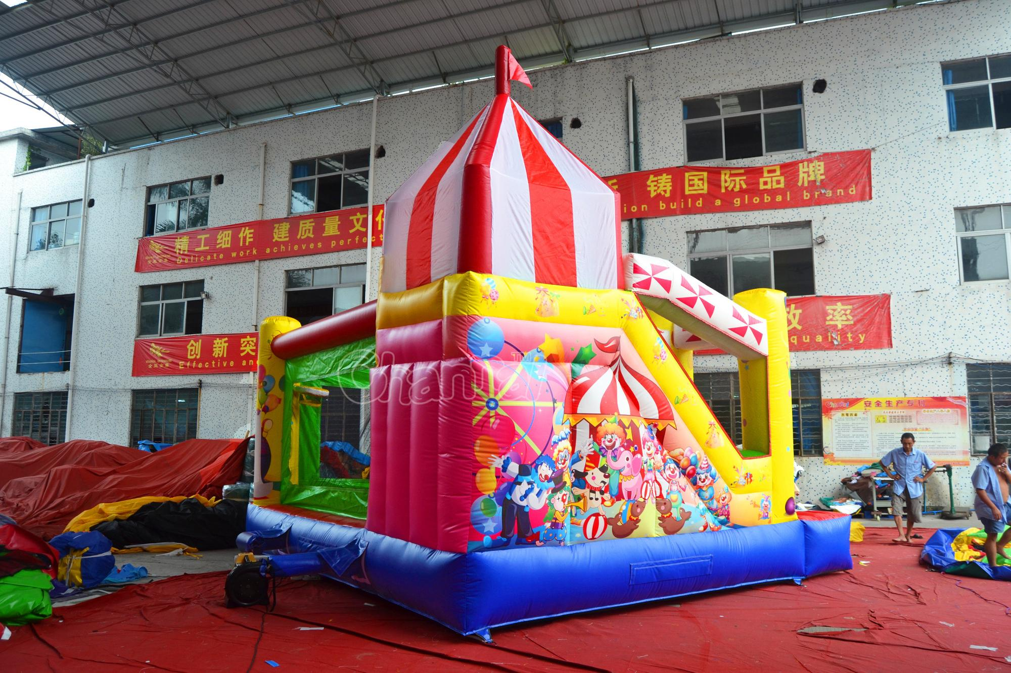 Commerical inflatable castle jumping bouncer inflatable combo bounces inflatable bouncer with slide