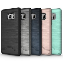 2 in 1 hybrid armor case for samsung galaxy note 7 stand kickstand cover silicone mobile phone pc case
