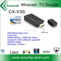 Sunchip High Quality Wifi Hdmi Dongle Support airplay Android Hdmi Smart Tv Dongle Bluetooth WiFi HDMI Dongle,CX-V3S PLUS