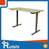 Adjustable height two people desks