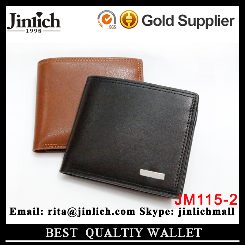 Wholesale Classical Custom Men's Small Leather Wallet And Purse