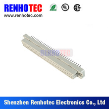 2.54mm pitch 96 pin three row DIN 41612 straight female connector