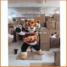 Wholesale price CE Kung Fu Panda Movie Character tiger mascot costume adult,Tigress mascot costume