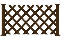 Waterproof Wood plastic composite fence,baluster , Composite Fence Garden Aluminium Frame Brushed Outdoor WPC Fence