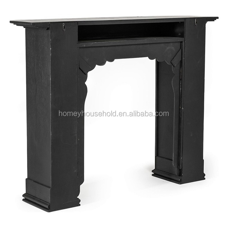 Wholeesale high quality wooden black fireplace in high efficiency