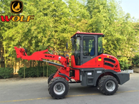 1ton chinese front end wheel loader road constrution equipment WOLF WL100