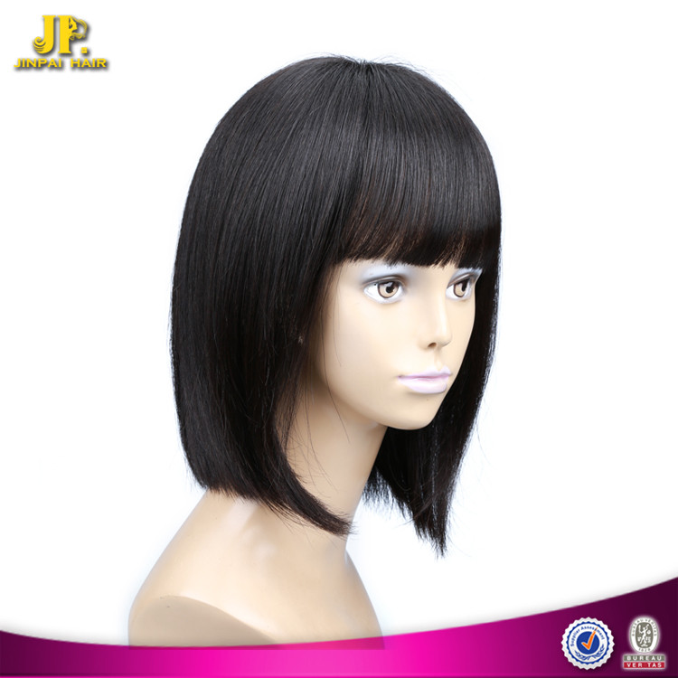 JP Hair Bobo Wigs With Bangs Human Hair Wigs For Black Women