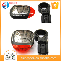 Modern 2 red led mountain bike lamp cycling safety waterproof solar energy bike light